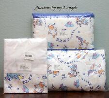 New Disney Store 3p Bedtime Pooh Crib Comforter + Bumper + Skirt nursery toddler
