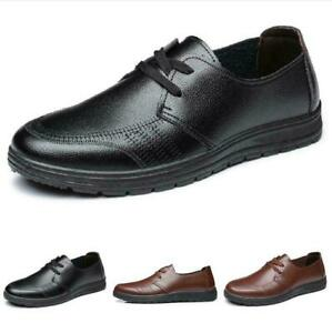 Men Business Work Office Pumps Lace up Soft Driving Leisure Faux Leather Shoe B
