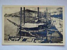 SPALATO SPLIT Dalmazia la marina barche pesca vela AK vecchia cartolina