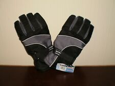 Gloves Ski Thermal Insulation Men Black Grey Mix New With Tags