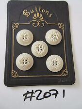 #2071 Lote de 5 botones de color crema/piedra