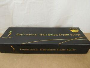 Steam Hair Straightener Flat Iron Professional Ceramic Tourmaline 2-in-1 Straigh