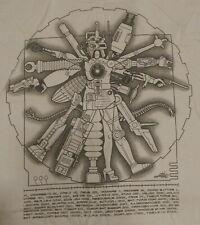 Vitruvian Man Cyborg - T-Shirt