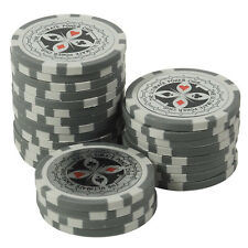 50 Pokerchips 13g Clay (Ton) Wert 1 grau Metallkern Ultimate Poker Laser