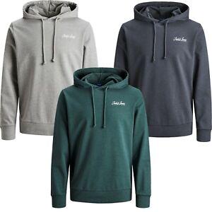 Jack & Jones Hoodie Mens Sweatshirts Casual Logo Printed Long Sleeve Hooded