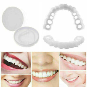 Smile Snap-On Obere Falsche Zähne Dental Veneers Zahnabdeckung Cover Foto Props