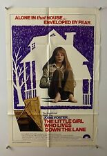 LITTLE GIRL WHO LIVES DOWN LANE Movie Poster (Fine+) One Sheet 1977 5380