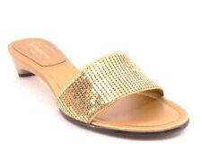 New LIZ CLAIBORNE FLEX Women Kitten Heel Slide Flip Flop Open Toe Shoe Sz 6 M