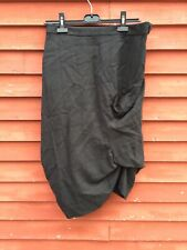 All Saints Black Plaid Wool Cotton Skirt Women's Size UK 12 US 10