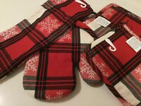 POT HOLDERS OVEN MITT KITCHEN TOWEL SET OF 4 WOVEN POT HOLDERS HAPPY HOLIDAYS