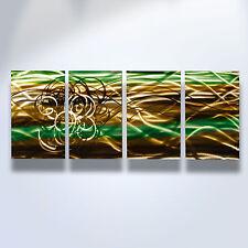 Abstract Metal Wall Art- Contemporary Modern Decor Torrent Brown, Green