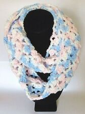 NWOT Crochet Baby Pink,Blue,White Ombre Infinity Acrylic Cowl,Scarf 6x58