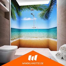 Eck Duschrückwand drei Platten Alu Bad Dusche Wand Palm Beach