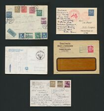 1939 GERMANY COVERS OCCUPATION OF CZECHOSLOVAKIA COLLECTION, INC MIXED FRANKING