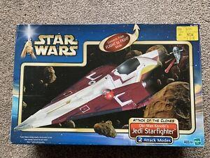 Star Wars Obi-Wan Kenobi's Jedi Starfighter Vehicle Attack Of The Clones Boxed