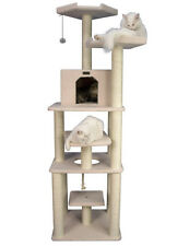 Armarkat 75 Inch Cat Tree Furniture Condo, 6 Levels, Playhouse, And Rope Swing