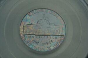 Rainbow Toned -- 1943-D 5c PCGS MS65FS Jefferson Nickel war silver #RT13