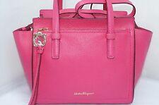 NWT Salvatore Ferragamo Pink Amy Bag Leather Satchel Handbag Tote