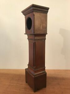 Antique Mahogany Miniature Longcase Pocket Watch Display Case Stand