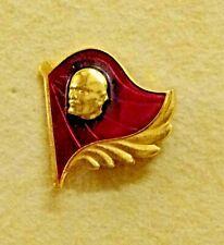 Vintage Communist Russian Flag Soviet Union USSR Lenin Badge Lapel Tie Pin CCCP