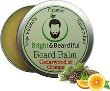 Cedarwood & Orange Beard Balm, Organic &Vegan-Friendly Bright and Beardiful 30ml
