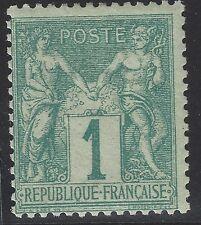 n°61 Sage 1c vert Type I Neuf* avec trace de charnière TB - Signé Calves