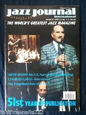 JAZZ JOURNAL INTERNATIONAL - MARCH 1998 - ARTIE SHAW
