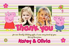 Personalised Thank You Cards Peppa Pig x 5