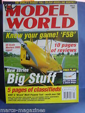 RCMW RC MODEL WORLD MARCH 2001 MINI LONE RANGER & AILERON WINGS PLAN F5B