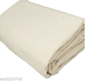 EXTRA HEAVY TOUGH 100% COTTON BOLTON TWILL DUST SHEET  CLOSE WEAVE PROF SHEETS