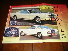 1965 CARROLL SHELBY GT 350 MUSTANG   ***ORIGINAL 1992 ARTICLE***