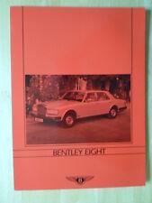 BENTLEY huit 1986c UK marché grande brochure notice
