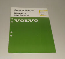 Service Manual Volvo 340 / 360 New Car Features 1984 Stand 08/1983