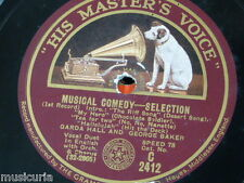 "78rpm 12"" GARDA HALL & GEORGE BAKER musical comedy selection 1&2"