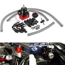 AN6 Einstellbare Kraftstoffdruckregler 160PSI Öl Manometer 3*kraftstoffschlauch