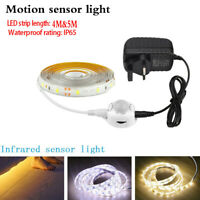 LED Strip Motion Sensor night Lights PIR Stairs Cabinet Home Lamp Wiht UK Plug