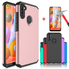 For Samsung Galaxy A11 Shockproof Hybrid Phone Case Cover / HD Screen Protector