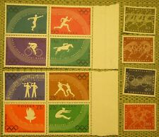 Lot 12 1960 Olympic Stamps Polska Poland  Deutsche Unused Value Collector