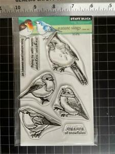 New Penny Black clear Rubber Stamp CHRISTMAS NATURE SINGS BIRDS free USA ship