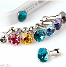 ✔ NEW 4 Pieces Luxury Diamond Earphone Anti Dust plug Cap for any 3.5mm Mobile ✔