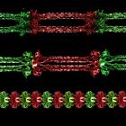 Christmas (DP) Foil Ceiling Decorations - Garlands - Red & Green