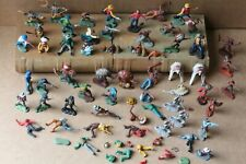 Vintage Britains Cowboys and Indians on foot x 50 inc. Swoppets 1960's