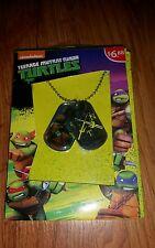 Nickelodeon ninja turtles necklace dog tag style brand new NWT