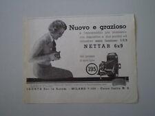 advertising Pubblicità 1933 ZEISS IKON NETTAR 6X9