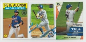Pete Alonso 2021 TOPPS SERIES 2 1986 TOPPS ALL-STAR + SIGNIFICANT STATS LOT METS