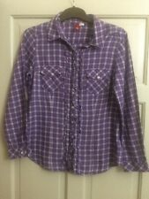 Womens H&M Divided purple checked shirt, Size 8 EU 36