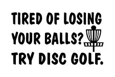Disc Golf Vinyl Sticker Decal Try Disc Golf