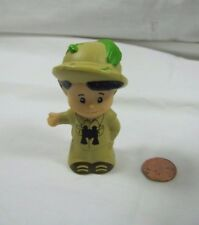 Fisher Price Little People BOY SAFARI JUNGLE ZOO GUIDE in Hat w/ BINOCULARS #2