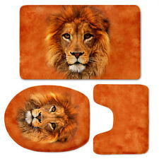 Animal Print Bathroom Mat 3pcs Soft Durable Floor Carpet Rug Toilet Seat Cover