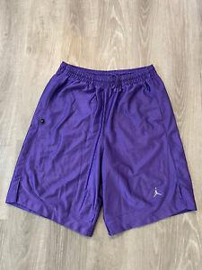 Men's Nike Air Jordan Dri Fit Basketball Shorts Size Large Purple